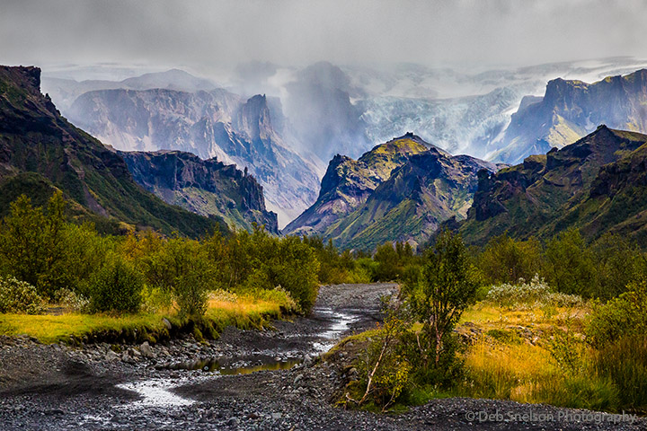 Road into Thorsmork Valley and Gigjokull Glacier, Iceland