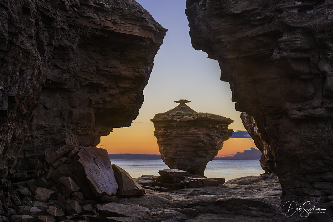 Teacup Rock at Sunset, Darnley, Prince Edwards Island, Canada