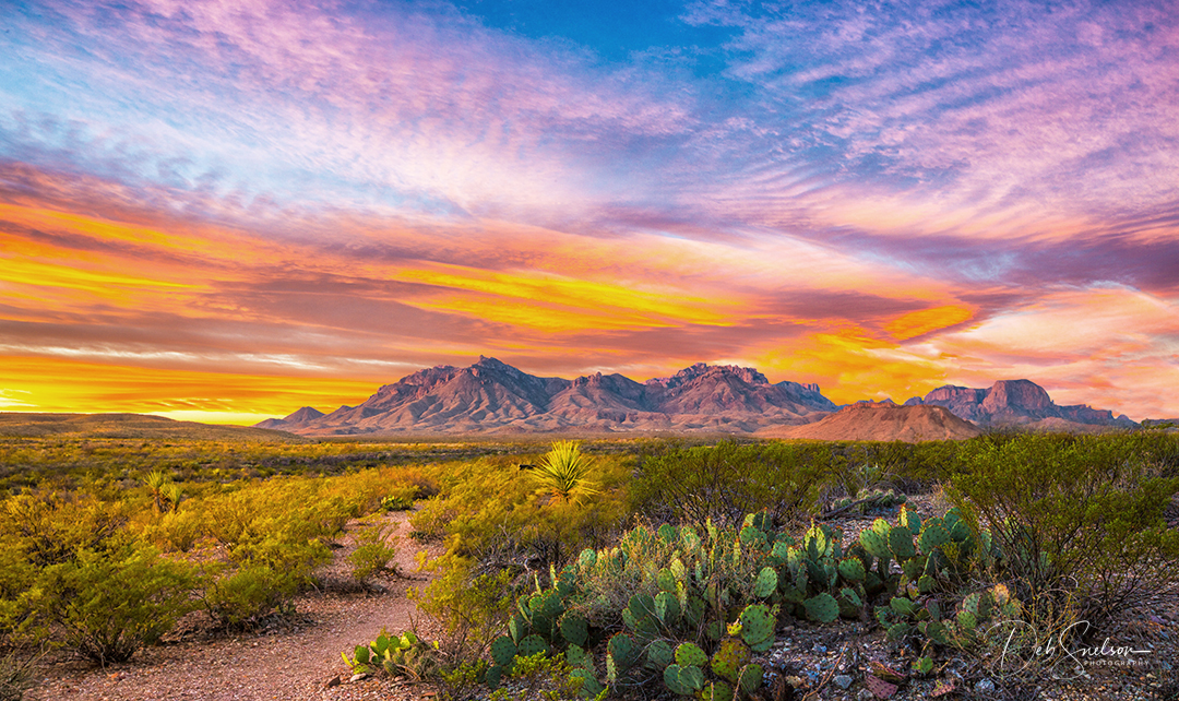 First Light on Chisos Mountains, Big Bend National Park