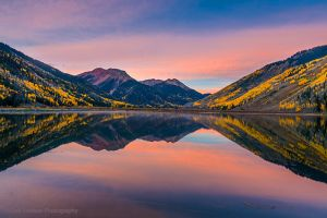 Crystal Lake and Red Mountain at Dawn near Ouray.jpg