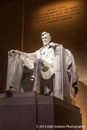 Lincoln statue Lincoln Memorial Washington DC sunset Low Light photography.jpg