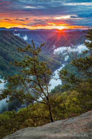 Beauty Mountain Sunset West Virginia New River Gorge Fayetteville WV.jpg