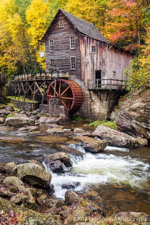 Glade Creek Grist Mill Autumn peak color Babcock State Park Clifftop West Virginia.jpg