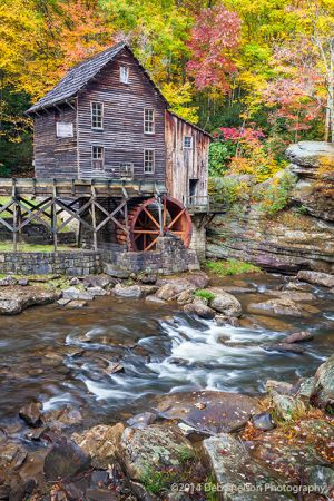 Glade Creek Grist Mill in Autumn Babcock State Park Clifftop West Virginia.jpg