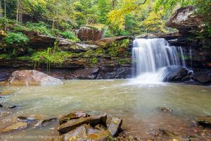 Mill Creek Falls  a New River Tributary in Ansted West Virginia WV Waterfall Autumn.jpg