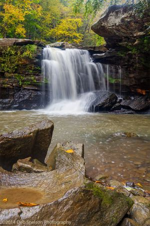 Mill Creek Falls a New River Tributary in Ansted West Virginia Waterfall Autumn WV.jpg