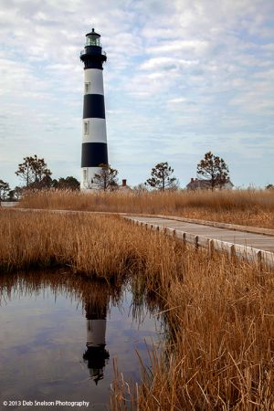 Bodie Island Lighthouse with Reflection, Outer Banks, North Carolina