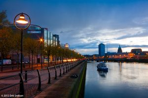 Dusk on the River Liffey, Dublin, Ireland