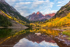 First Sun on Maroon Bells Aspen Colorado.jpg