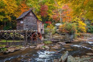Glade Creek Grist Mill Autumn Babcock State Park Clifftop West Virginia.jpg