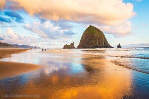 Golden Hour on Cannon Beach with Haystack Rock Oregon.jpg