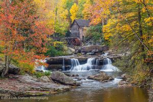 Iconic Glade Creek Grist Mill, Babcock State Park, Clifftop West Virginia