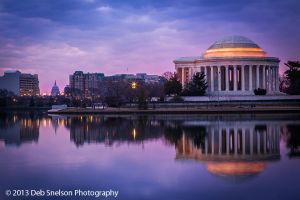 Jefferson Memorial with the Capitol Dome, Washington DC