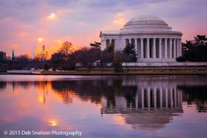 Jefferson Memorial and  Capitol Dome, Washington DC