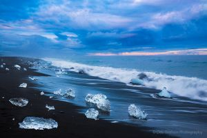 Jokulsarlon Black Sand Beach and Iceburgs Iceland.jpg