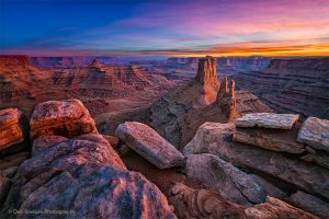 Marlboro Point Reflected Light after Sunset near Canyonlands National Park Utah-c23.jpg