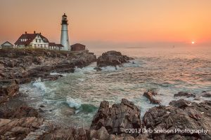 Portland Head Light at Sunrise, Portland, Maine