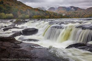 Powerful Sandstone Falls on the New River West Virginia