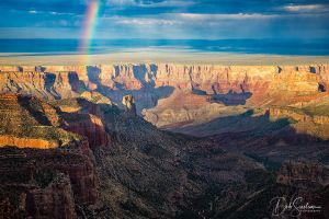 Rainbow from Roosevelt Point Grand Canyon.jpg