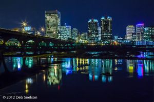 Richmond City Skyline with James River, Virgina