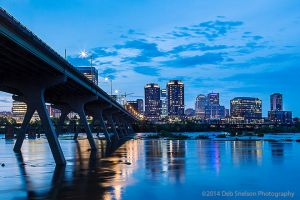 Richmond Skyline and Manchester Bridge, Virginia