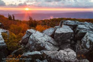 Sunrise at Bear Rocks, Dolly Sods Wilderness WV