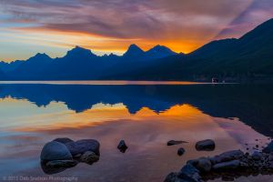 Sunrise from Apgar Village at Lake McDonald Glacier National Park Montana USA.jpg