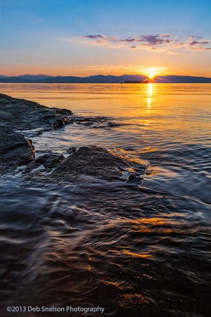 Sunset on Lake Champlain, Vermont