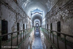 Cell block 7, Eastern State Penitentiary, Philadelphia Pennsylvania