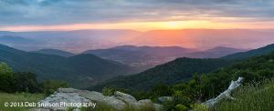 Sunset from an overlook on Skyline Drive in Shenandoah National Park, Virginia