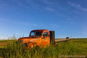 Abandoned Truck at Night with Moon Light Colfax Washington Palouse-c47.jpg
