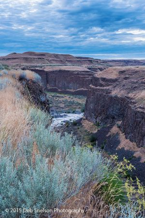 Canyon at Palouse Falls Twilight Scablands Washington.jpg