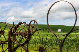 Dahmen Barn Wheel fence Uniontown Washington Palouse.jpg