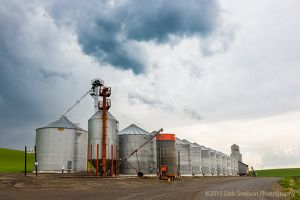 Staley Grain Silos with steely skies wheat Pullman Palouse Washington.jpg