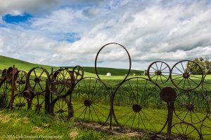 Wheel fence of Dahmen Barn Uniontown Washington Palouse.jpg