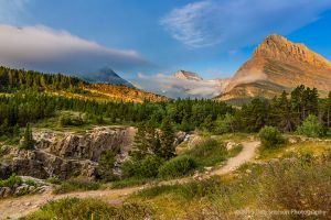Fog lifting over Mts Grinnell and Gould Glacier National Park Montana-c48.jpg