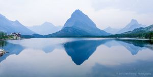 Many Glacier area Pano Mt Grinnell with Smoke Reynold Creek Fire 2015 Glacier National Park Montana USA-c68.jpg