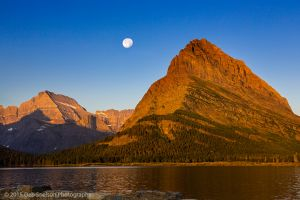 Mt Grinnell Sunset with moon Glacier National Park Montana-c54.jpg