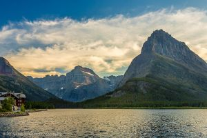 Mt Grinnell and the Garden Wall Sunset Glacier National Park Montana-c41.jpg