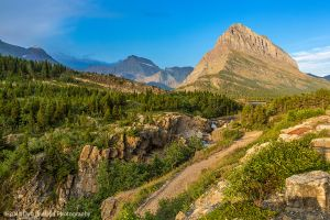 Swiftcurrent Falls and Mt Grinnell Many Glacier area Glacier National Park Montana USA-c96.jpg