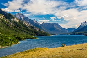 Waterton Lakes National Park Canada borders Glacier NP in USA.jpg