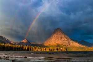 Two Medicine Lake Storm with Rainbow Glacier National Park.jpg