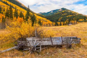 Ashcroft Village abandoned cart with wooden wagon wheels.jpg