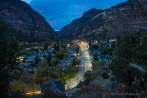 Looking Down on Ouray Colorado at Dusk.jpg