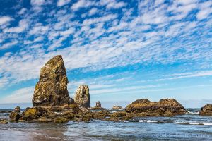 Cannon Beach and Sea Stacks in the morning on Oregon Coast-c77.jpg