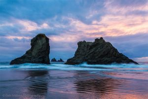 Coquille Beach Sea Stacks at Dusk in Bandon Oregon Pacific Coast.jpg