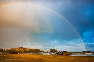 Rainbow over Coquille Point Beach Bandon Oregon.jpg