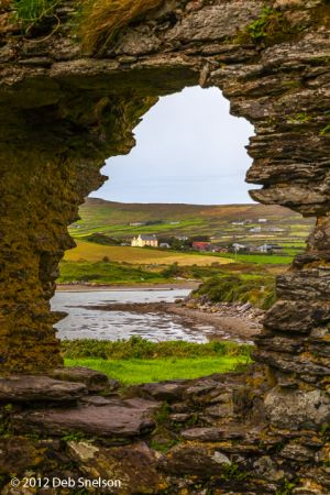 Ballycarberry Castle window onto the bay Ring of Kerry Ireland.jpg