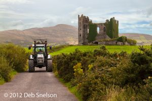 Ballycarbery Castle vs tractor Ring of Kerry Ireland.jpg