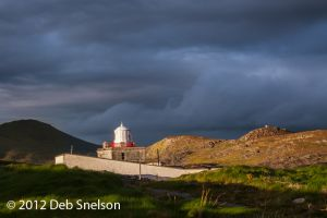 Cromwell Point Lighthouse Sunset Glow Valencia Kerry Ireland.jpg